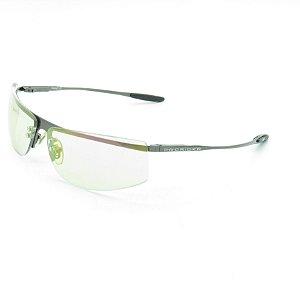 Óculos de Sol Prorider Retrô Prateado Brilhante com Lente Verde - AZ5292