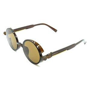 Óculos de Sol Prorider Marrom Detalhado com Lente Fumê Marrom - DNEB1544