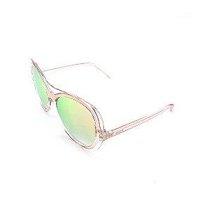 Óculos de Sol Prorider Transparente Rosê Com Lente Espelhada Colorida -  S8761-58