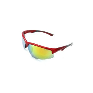 Óculos de Sol Prorider Vermelho e Cinza com Lente Espelhada Colorida - B88-9005