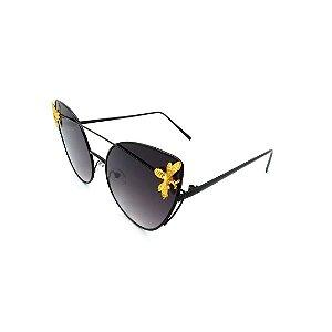 Óculos Solar Prorider Preto Detalhado Com Lente Degradê Fumê - 7782-C3