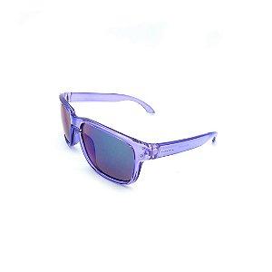 Óculos de Sol Prorider Transparente Lilás Com Lente Espelhada Colorida -  B2013-1079