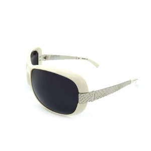 Óculos de Sol Prorider Retrô Branco e Prata Com Lente Fumê -  THUNDERS-C1