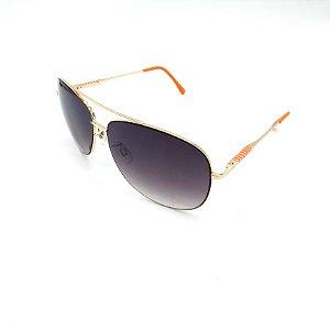 Óculos Solar Prorider Dourado Detalhado Com Lente Degradê Fumê  - B88-137