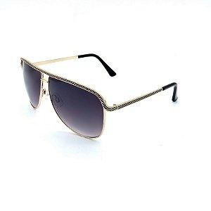 Óculos Solar Prorider Dourado Detalhado Com Lente Degradê Fumê  - B88-50
