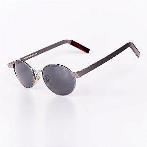 Óculos Solar Robert La Roche Vintage Prata com Lentes Fumê - 105M63C3