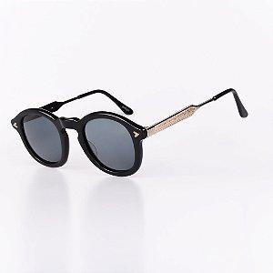 Óculos Solar Robert La Roche Vintage Preto com Lentes Fumê - GHOSTC1