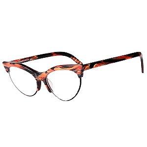 Óculos Receituário Robert La Roche Vintage Preto e Laranja Mesclado com Lentes de Apresentação - LR259C3