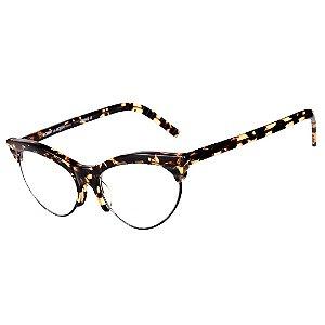 Óculos Receituário Robert La Roche Vintage Preto e Amarelo Mesclado com Lentes de Apresentação - CA94C22