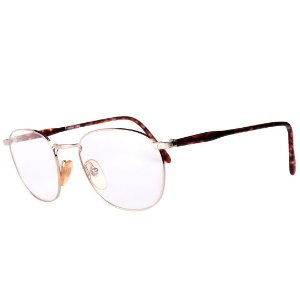 Óculos Receituário Robert La Roche Vintage Prata e Marrom Mesclado com Lentes de Apresentação - 050C1