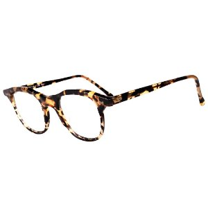 Óculos Receituário Robert La Roche Retrô Preto e Amarelo Mesclado com Lentes de Apresentação - CA94C12