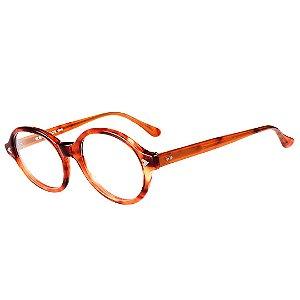 Óculos Receituário Robert La Roche Retrô Marrom Mesclado com Lentes de Apresentação - CA68C2