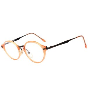 Óculos Receituário Robert La Roche Vintage Preto, Dourado e Amarelo com Lentes de Apresentação - CA11C2
