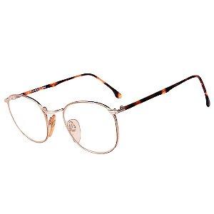 Óculos Receituário Robert La Roche Vintage Prata e Marrom Mesclado com Lentes de Apresentação - MOD140C1