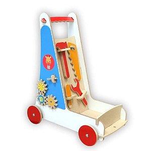 Carrinho de Ferramentas em Madeira - Top Toy