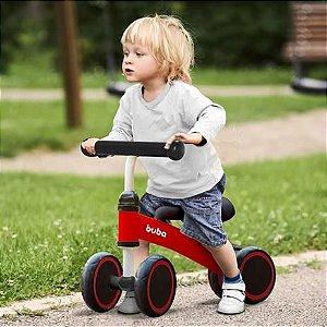 Bicicleta Andador Infantil Buba 4 Rodas Sem Pedal