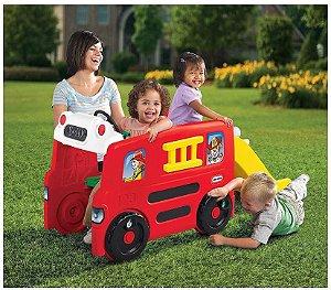 Escorregador e Carro de Bombeiro Little Tikes