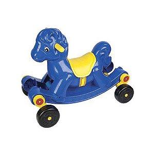 Cavalinho Gangorra azul