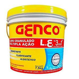BALDE 7,5 KG CLORO GENCO LE MULTIAÇÃO 3X1 GRANULADO