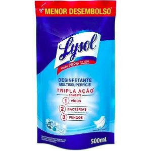 LYSOL DESINFETANTE PUREZA DO ALGODAO SACHE 500ML