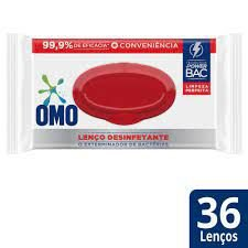 Lenço Umedecido Desinfetante Omo 36 Unidades