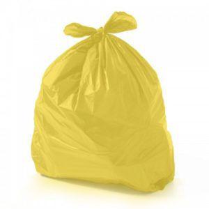 Pacote saco lixo AMARELO P7 60L 100un - reforçado