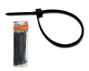 Abracadeira de Nylon 100 Pecas 2,5x200 mm Preto Bestfer