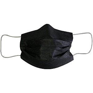 Máscara Descartável Tripla Camada Com Filtro PRETA - 50UN