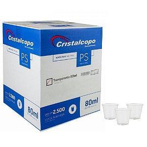 Caixa copo 80ml Cristalcopo c/ 2500 brc