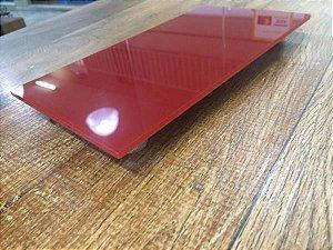 Bandeja retangular vermelho/preta/espelho/branca