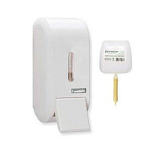 Dispenser saboneteira compacta pequena Urban branca 400ml
