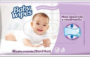 Lenco umedecido baby wipes 48un lavanda