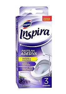 Inspira pastilha adesiva lavanda c/3