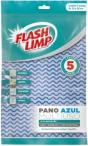 Pano multiuso azul 5pcs Flashlimp 30X50