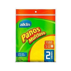 Panos MultiUso Alklin 36x40cm 2un amarelo