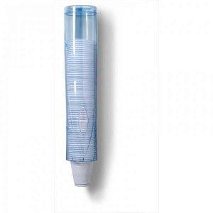 Porta copo cafe 50ml acrilico azul
