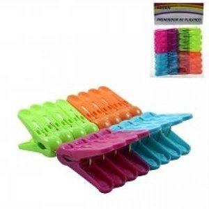 Prendedor 16 pcs plast color FWB