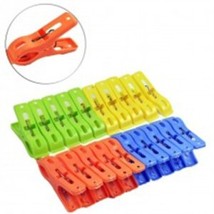 Prendedor colorido 20pcs plast color