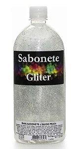 Sabonete liquido glitter Prata 1L