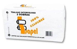 Toalhas interfolhas 2d 100% Celulose Virgem Com 1000 20x21 Isapel