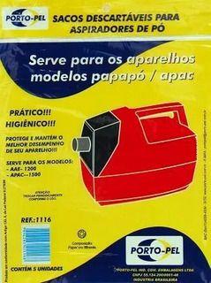 Saco aspirador arno papapo / apac 1500 1200 - 5 und  (REF.1116)