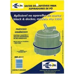 Saco aspirador black e decker pro 1000 -5 und (REF.2111)