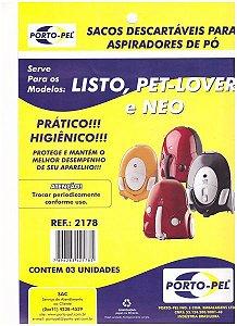 Saco aspirador Electrolux listo / pet-lover / neo - 3 und (REF.2178)