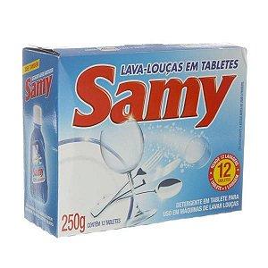 Samy pastilha p/maq lavar louca 250g