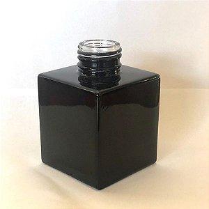 Vidro cube 100ml preto (sem valvula)