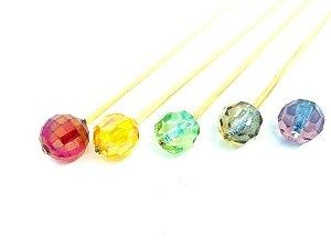 Vareta cristal redonda colorida UN