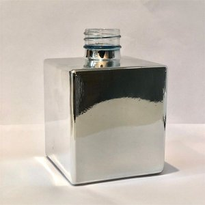 Vidro cube 250ml prata brilho (sem válvula)