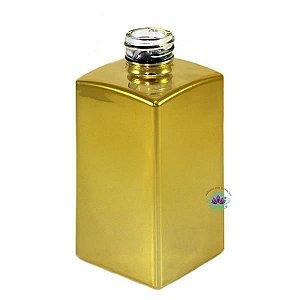 Vidro square 250ml ouro brilho