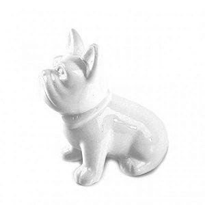 Enfeite De Porcelana Cachorro Sentado