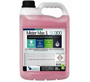 Sanitizante Bactericida Quaternário Líquido Mister Max 1 SQ300 5 litros Ingleza